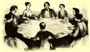 Sessão espírita no século XIX