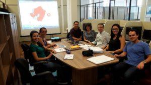 Reunião de trabalho de pesquisadores da Rede Mapa do Piauí e de Santa Catarina